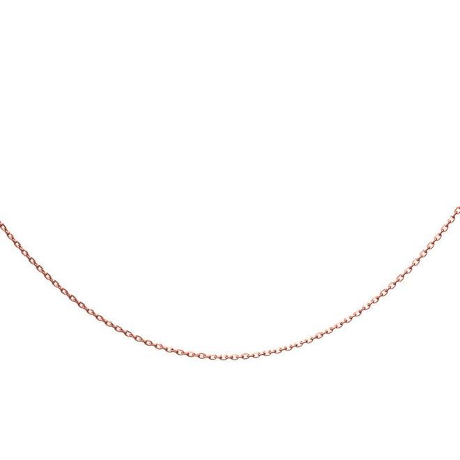 Anı Yüzük - 925 Ayar Gümüş Rose Bayan Zinciri