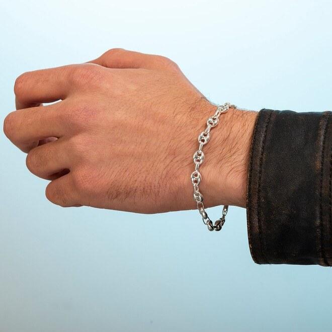 Gemici Zincir Gümüş Bileklik - Thumbnail