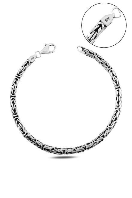 Klasik Kral Gümüş Bileklik - Thumbnail
