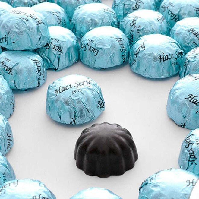 Hacı Şerif - Mini Bitter Çikolatin 500g Asetat Kutu