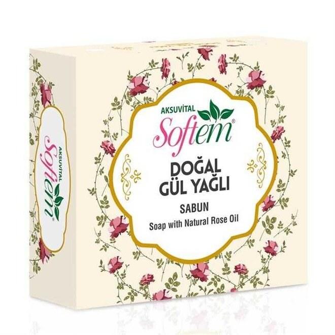 Softem - Sft DoĞal GÜl YaĞli Sabun 130 Gr Softem Den Cilt Bakım